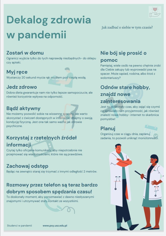 dekalog zdrowia w pandemii